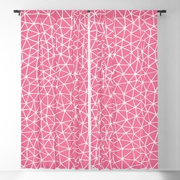 Connectivity - White on Pink Blackout Curtain
