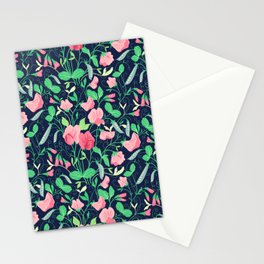 Pretty floral pattern. Sweet Pea. Stationery Cards