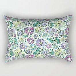 Corful floral surface Rectangular Pillow