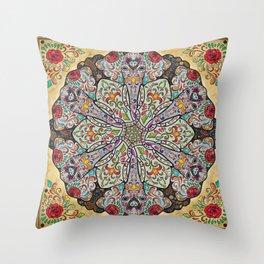 Mandala Elephants Throw Pillow