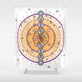 Cosmic Engine Mandala Color Shower Curtain