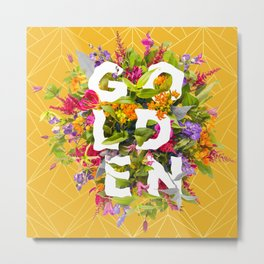 Golden Earth Metal Print