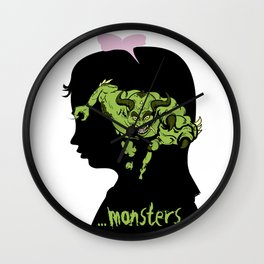 Monsters…hiding in our heads…OPTION Wall Clock