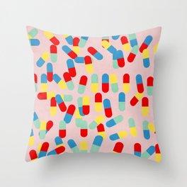 PILLS! PILLS! PILLS! - PINK Throw Pillow