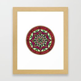 Garden Leaves Mandala Framed Art Print
