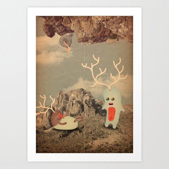 esseri della montagna Art Print