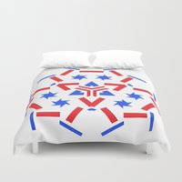 patriotic Duvet Covers featuring Patriotic by Robin Curtiss