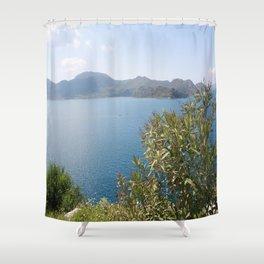 Oleander Againt The Aegean near Selimiye Shower Curtain
