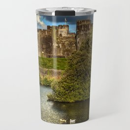 Caerphilly Castle Western Towers Travel Mug