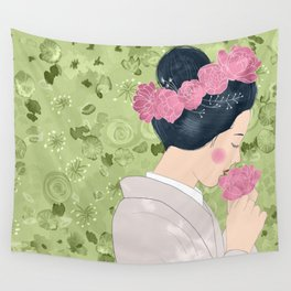 Princess Peony / Japanese Folktale Wall Tapestry