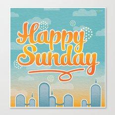 Happy Sunday Canvas Print