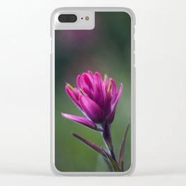 Pink Indian Paintbrush Clear iPhone Case