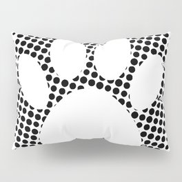 Dog Paw Print With Halftone Background Pillow Sham