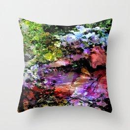 Monet's  Zen Garden Throw Pillow