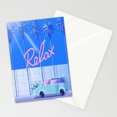 Relax (Blue) Stationery Cards