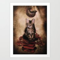 lucas david Art Prints featuring Lucas by SOPHIA FREITAS