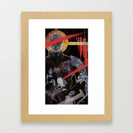 Justice tarot card Framed Art Print