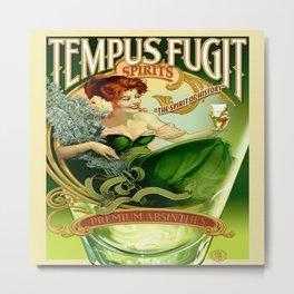 Vintage poster - Tempus Fugit Absinthe Metal Print
