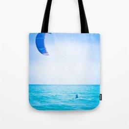 Kite surf blue Tote Bag