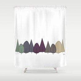 Fall Trees - Modern Shower Curtain