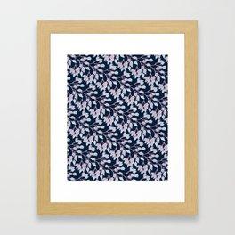 Winter Flower Buds Framed Art Print