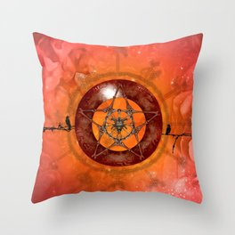 Awesome skull Throw Pillow