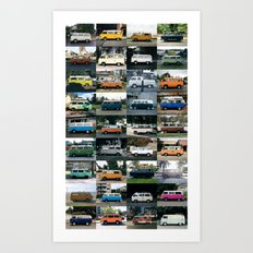 Curbside Bus - 2015 Collection Art Print