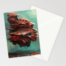 Mother ship hovering Stationery Cards