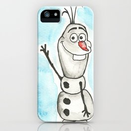 Watercolor Olaf iPhone Case