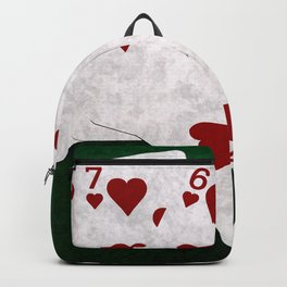 Poker Straight Flush Hearts Backpack