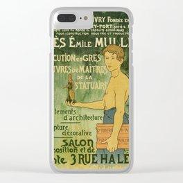 Emile Muller ceramist Paris Clear iPhone Case