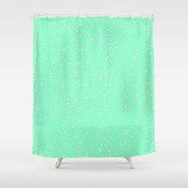 Light Green Shambolic Bubbles Shower Curtain