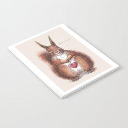 Squirrel heart love Notebook