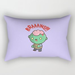 Zombie Kawaii | BRAAAINS!!!! BRAINS!! Halloween Rectangular Pillow