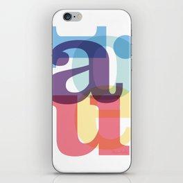 aeiou iPhone Skin