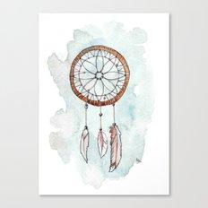 Brunette Dreamcatcher Canvas Print