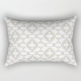White and neutral brushed tribal kilim pattern Rectangular Pillow