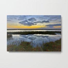 Sunrise Bolsa Chica Wetlands  9/1/14 Metal Print