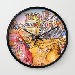 do you remember when we used to dine alone? Wall Clock