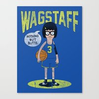 tina belcher Canvas Prints featuring Tina - Nothing But Butts by Wizz Kid