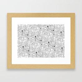 Little Escher's Building Blocks Framed Art Print