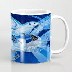 Muge's Pigeons in Blue  Mug
