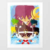 zodiac Art Prints featuring zodiac by danvinci