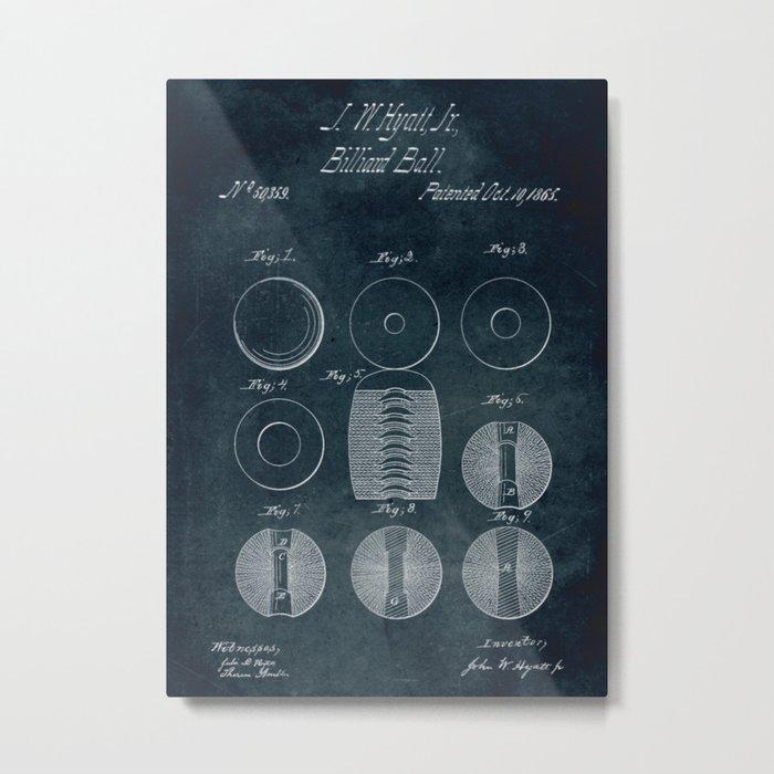1865 - Billiard ball Metal Print