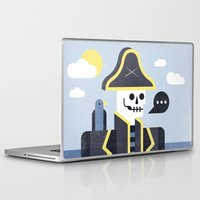 men Laptop & iPad Skins featuring Dead Men Tell No Tales by Chase Kunz