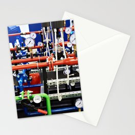 Piping with manometers for industry Stationery Cards