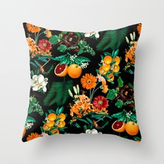 Fruit and Floral Pattern Throw Pillow