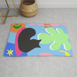 Jungle Black Cat - Painting Rug