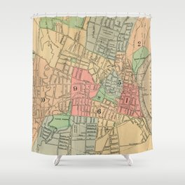 Vintage Map of Hartford Connecticut (1903) Shower Curtain