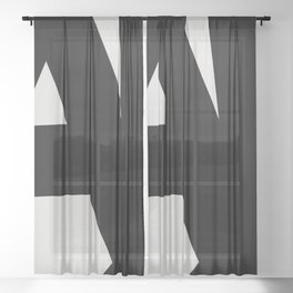 Abstract Form 01 Sheer Curtain
